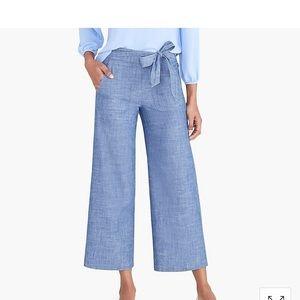 Chambray tie waist pants